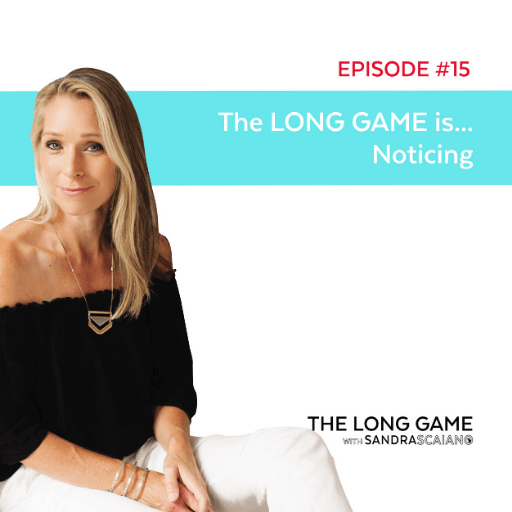 THE LONG GAME Episode 15 Noticing with Sandra Scaiano
