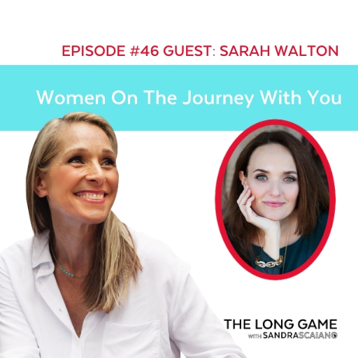 The LONG GAME Episode 46 with Sandra Scaiano Women On the Journey With You with Sarah Walton