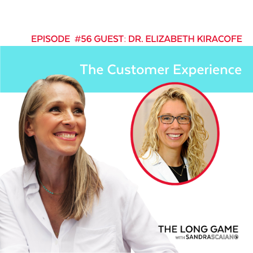 The LONG GAME Episode 56 with Sandra Scaiano Building Your Business Your Way with Dr. Elizabeth Kiracofe