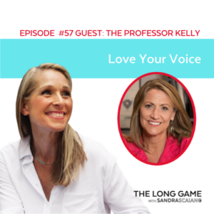 The LONG GAME Episode 57 with Sandra Scaiano Love Your Voice with The Professor Kelly