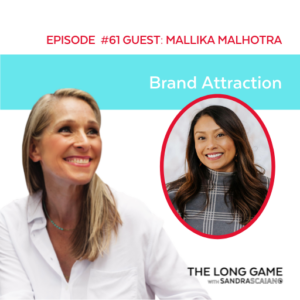 The LONG GAME Episode 61 with Sandra Scaiano Brand Attraction with Mallika Malhotra